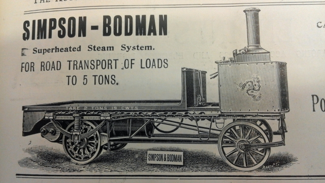 An advert for Simpson and Bodman, from The Autocar 6/10/1900